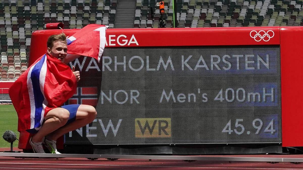 Karsten Warholm pulverisierte den Weltrekord über 400 m Hürden