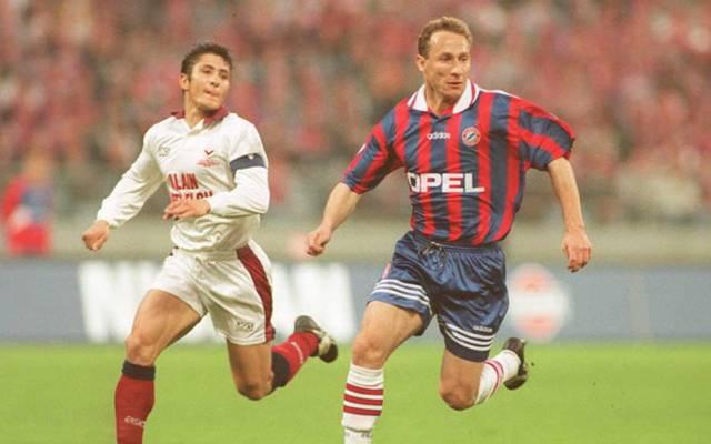 Jean-Pierre Papin (re.) spielte zwei Jahre lang für den FC Bayern München