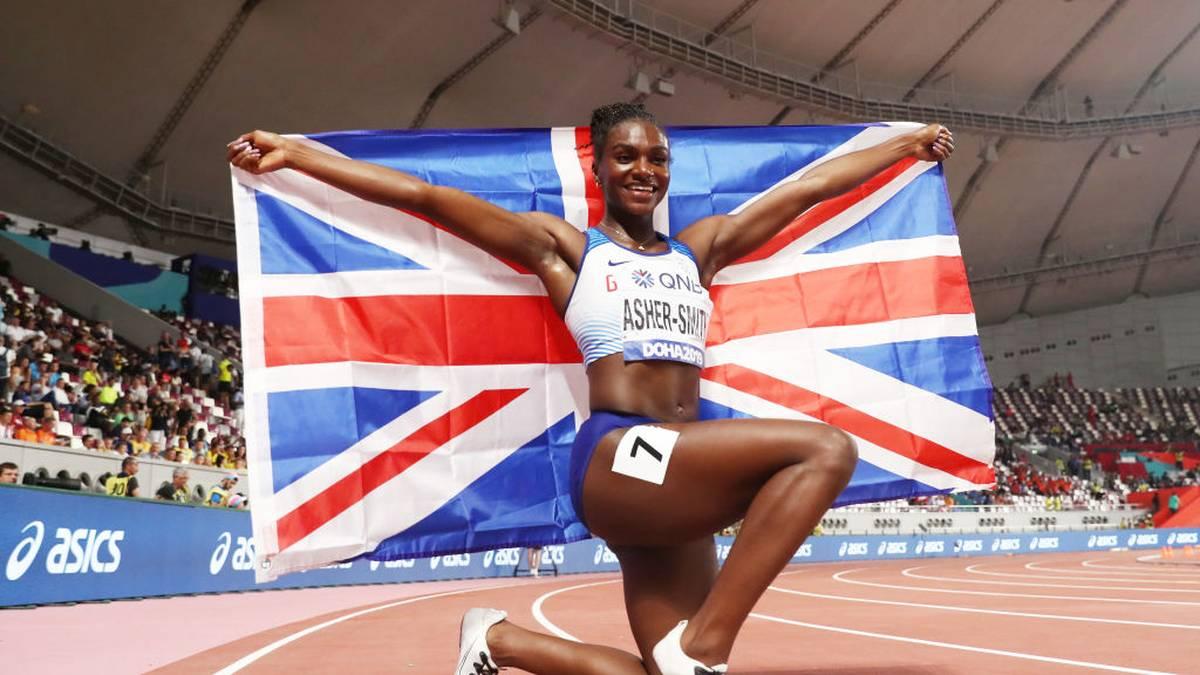 Die Britin Dina Asher-Smith läuft in Doha Landesrekord und holt sich ihr erstes WM-Gold über 200 Meter