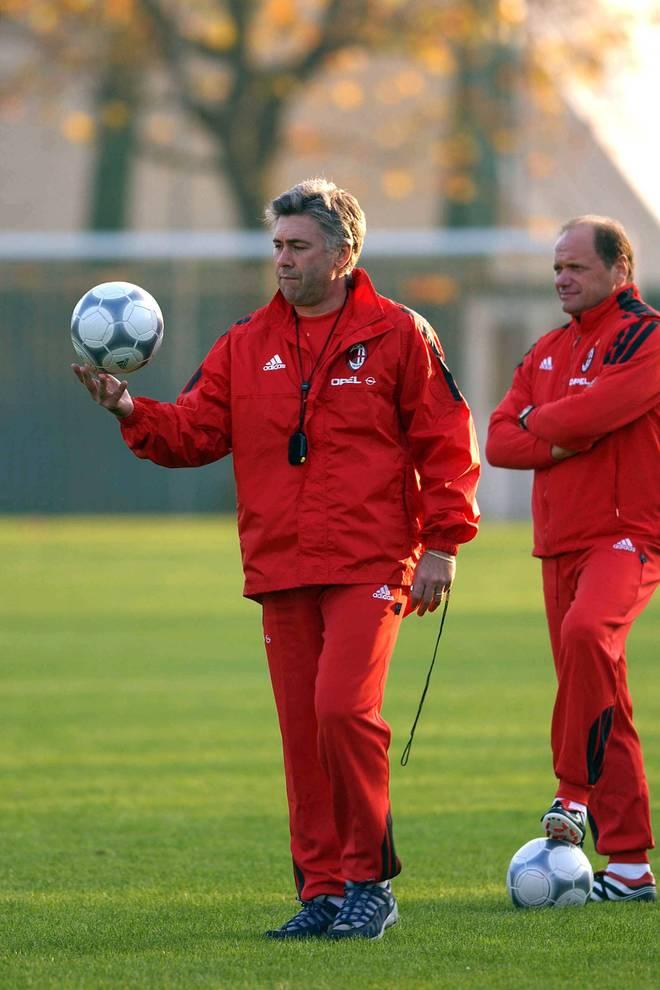 Giorgio Ciaschini (r.) mit Carlo Ancelotti 2001 beim AC Mailand
