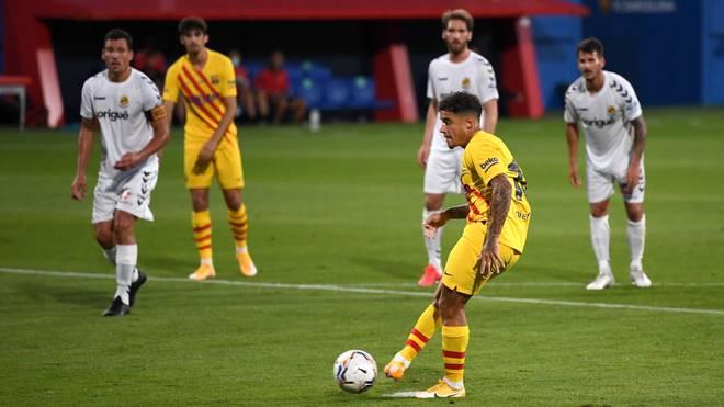 Philippe Coutinho traf für den FC Barcelona vom Punkt
