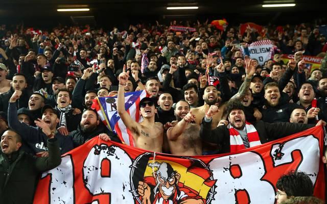 Am 11. März waren über 3000 Anhänger von Atletico Madrid in Liverpool zu Gast