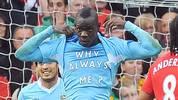 """""""Warum immer ich?"""", fragt sich Mario Balotelli auf diesem Bild..."""