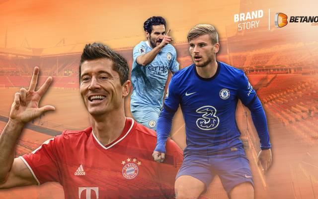 Robert Lewandowski, Ilkay Gündogan und Timo Werner (v.l.n.r.) wollen in der Champions League weiter knipsen
