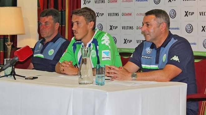 Max Kruse wird beim VfL Wolfsburg vorgestellt