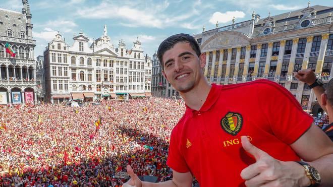 Thibaut Courtois wurde wie seine Mannschaftskollegen frenetisch in Belgien gefeiert