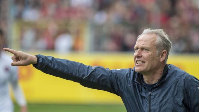 Freiburg-Trainer Christian Streich war mit der Leistung seines Teams zufrieden