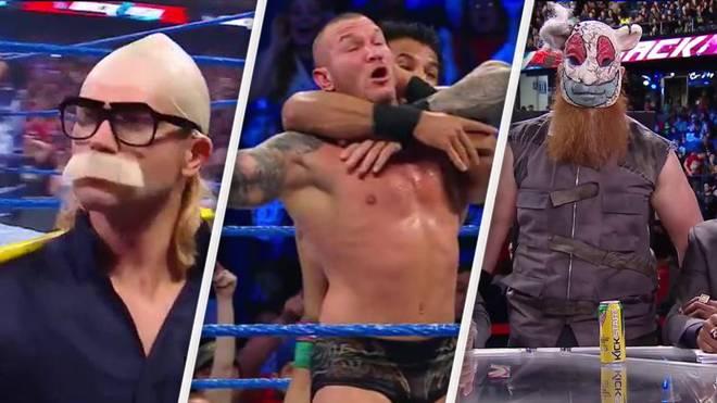 Verrückte Auftritte bei WWE Backlash 2017: Tyler Breeze, Randy Orton und Jinder Mahal, Erick Rowan (v.l.)