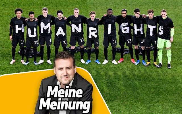 Die Aktion des DFB-Teams sorgte für viel Aufmerksamkeit