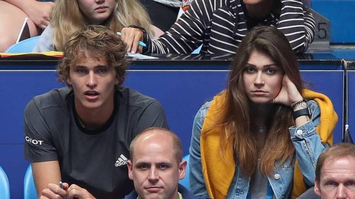 Alexander Zverev mit seiner Ex-Freundin Olga Sharypova