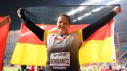 Christina Schwanitz holt sich in Katar ihre dritte WM-Medaille