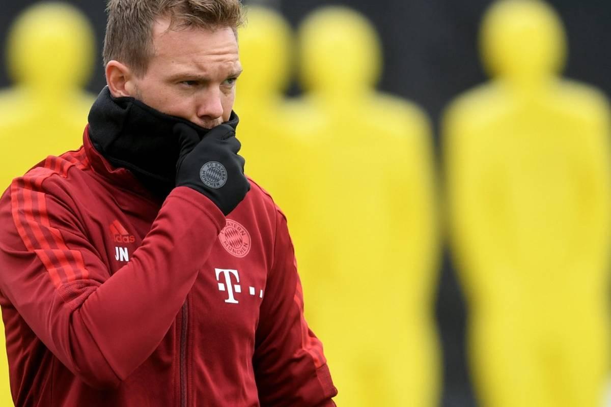 Eine Woche nach seinem positiven Coronatest wird Nagelsmann im DFB-Pokal gegen Mönchengladbach voraussichtlich auf die Trainerbank  zurückkehren.