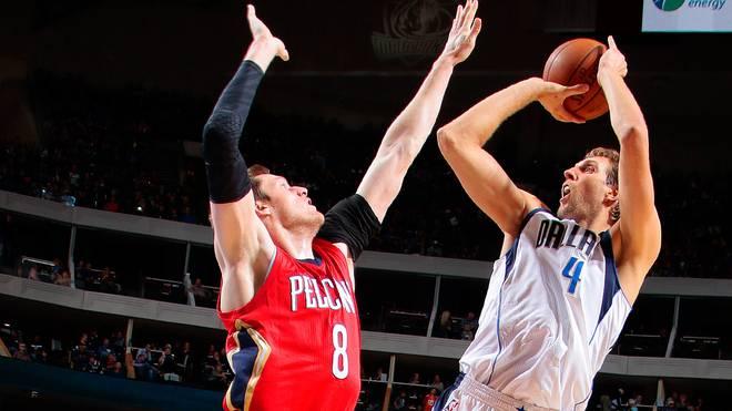 Dirk Nowitzki gegen die New Orleans Pelicans