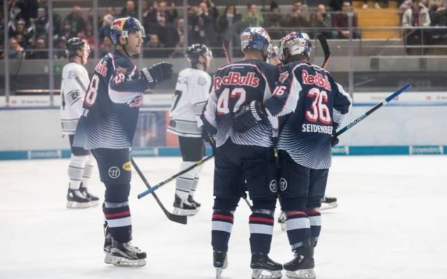 Frank Mauer, Yasin Ehliz und Yannic Seidenberg (v.l.) werden nicht an der Eishockey-WM teilnehmen