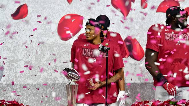 DeVonta Smith beeindruckte bei den Alabama Crimson Tide mit seinen Leistungen