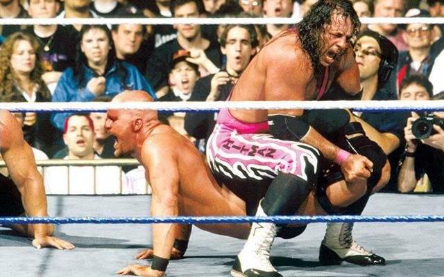 Stone Cold Steve Austin (l.) war der große Rivale von Bret Hart und der Hart Foundation
