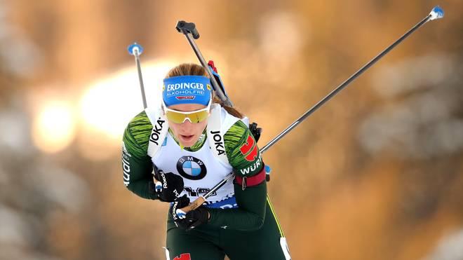 IBU World Cup Biathlon Ruhpolding - Women's Sprint Vanessa Hinz brachte die DSV-Mixed-Staffel als Schlussläuferin auf dem zweiten Platz ins Ziel