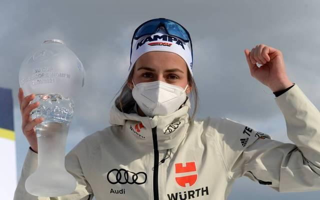 Vanessa Voigt gewann die Gesamtwertung im IBU-Cup