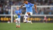 Manchester City's midfielder Leroy Sane controls the ball during a friendly football match between English Premier League club Manchester City and Japan League Yokohama F. Marinos at the Yokohama Stadium, in Yokohama on July 27, 2019. (Photo by CHARLY TRIBALLEAU / AFP)        (Photo credit should read CHARLY TRIBALLEAU/AFP via Getty Images)