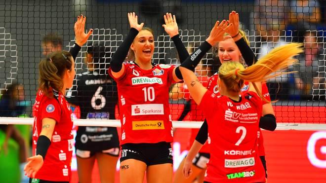 Volleyball Bundesliga Frauen: Dresdner SC - Rote Raben Vilsbiburg LIVE im TV und STREAM