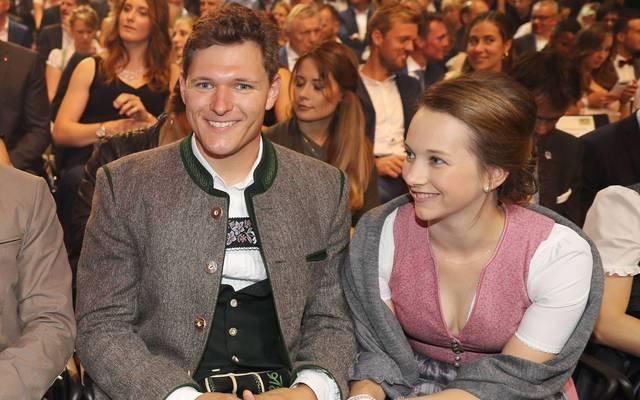 Thomas Dreßen mit seiner Freundin Birgit