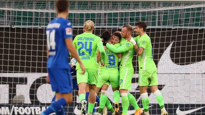 Der VfL Wolfsburg gewinnt gegen die TSG Hoffenheim und bleibt in dieser Saison weiter ungeschlagen