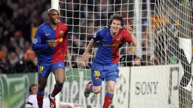 Das waren noch Zeiten: Samuel Eto'o und Lionel Messi beim FC Barcelona