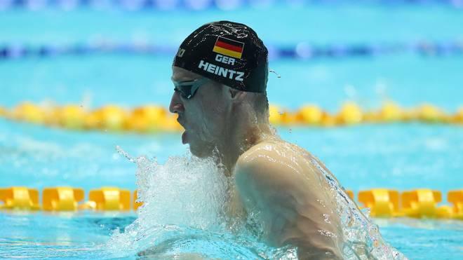 Philip Heintz holt bei der Kurzbahn-EM Bronze