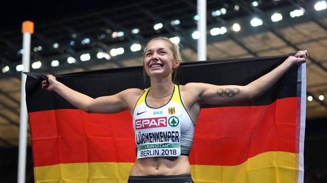 Gina Lückenkemper gewann bei der EM 2018 in Berlin Silber
