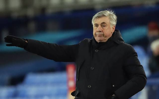 Everton v Manchester United, ManU - Carabao Cup - Quarter Final - Goodison Park Everton manager Carlo Ancelotti on the touchline during the Carabao Cup, Quarter Final match at Goodison Park, Liverpool. EDITORIAL USE ONLY No use with unauthorised audio, video, data, fixture lists, club league logos or live services. Online in-match use limited to 120 images, no video emulation. No use in betting, games or single club league player publications. PUBLICATIONxINxGERxSUIxAUTxONLY Copyright: xNickxPottsx 57261733