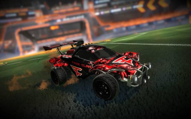 So könnte das FaZe Clan Design in Rocket League aussehen