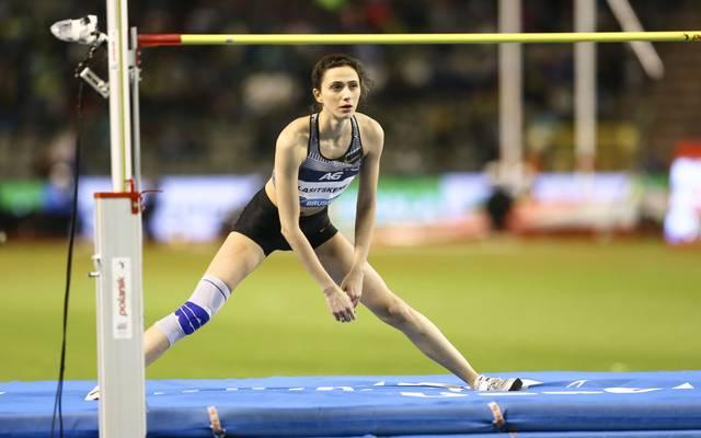 Hochsprung-Weltmeisterin Marija Lassizkene ist von dem möglichen Startverbot betroffen
