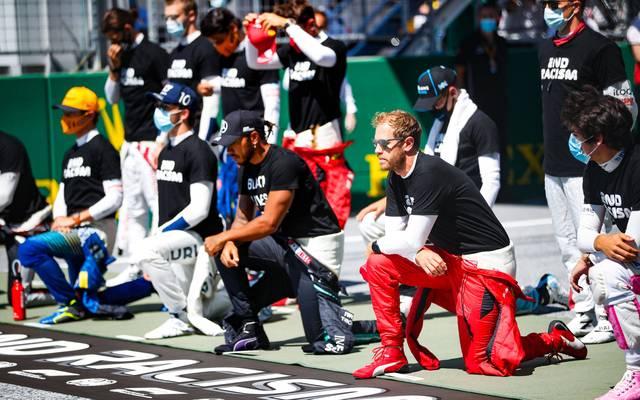 Der Kniefall in der Formel 1 bleibt weiterhin ein Streitthema