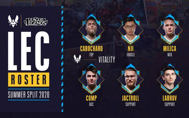 Das ist das LEC-Roster für Team Vitality im Summer Split