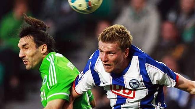 Maik Franz (r.) spielte in der Bundesliga für den VfL Wolfsburg, Karsruher SC, Eintracht Frankfurt und Hertha BSC