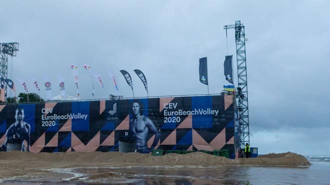 Ein starkes Unwetter stoppte die Beachvolleyball-EM