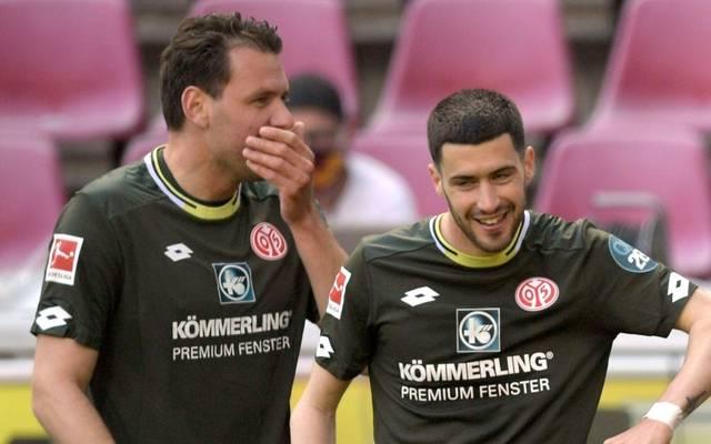 Adam Szalai (l.) fehlt Mainz  für mindestens vier Wochen