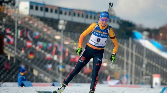 Franziska Preuß war auf Platz neun die beste Deutsche
