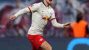 Leipzig's German forward Timo Werner controls the ball during the German first division Bundesliga football match RB Leipzig v FC Union Berlin in Leipzig, on January 18, 2020. (Photo by Ronny Hartmann / AFP) / DFL REGULATIONS PROHIBIT ANY USE OF PHOTOGRAPHS AS IMAGE SEQUENCES AND/OR QUASI-VIDEO (Photo by RONNY HARTMANN/AFP via Getty Images)