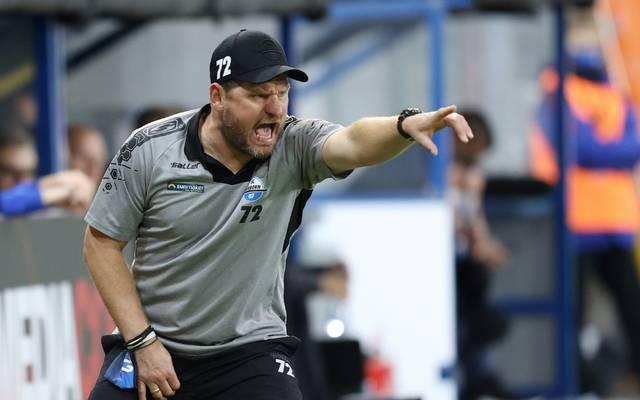 In seinem Element: Steffen Baumgart startete seine Trainerkarriere begann er 2008 als Assistenzcoach bei Germania Schöneiche