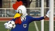 """Vier Jahre später in Frankreich wurde der Hahn """"Peno"""" zum Glücksbrigner für die Gastgeber. Die Equipe Tricolore besiegen im EM-Finale 1984 Spanien mit 2:0 und holen sich den Titel im eigenen Land"""