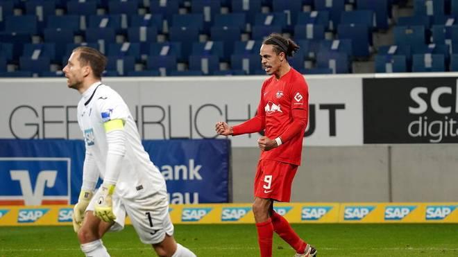 Yussuf Poulsen erzielte für Leipzig das Siegtor
