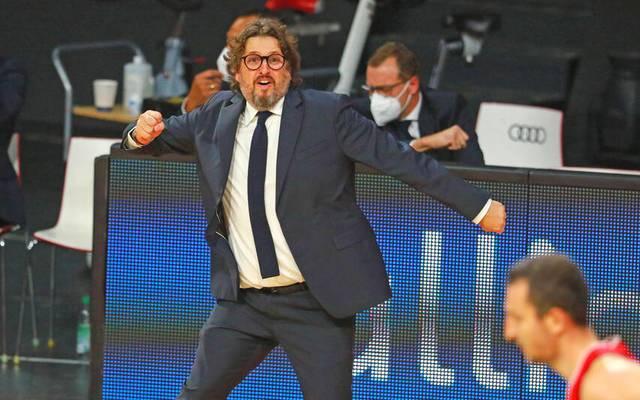 Der FC Bayern um Coach Andrea Trinchieri feierte gegen Piräus den nächsten Coup in der EuroLeague
