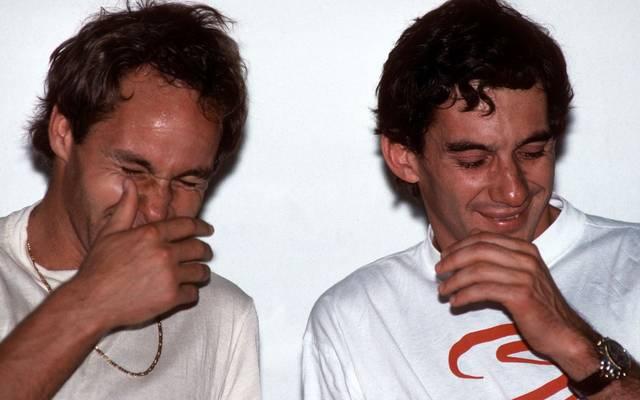 Gerhard Berger (l) war einst Teamkollege von Ayrton Senna