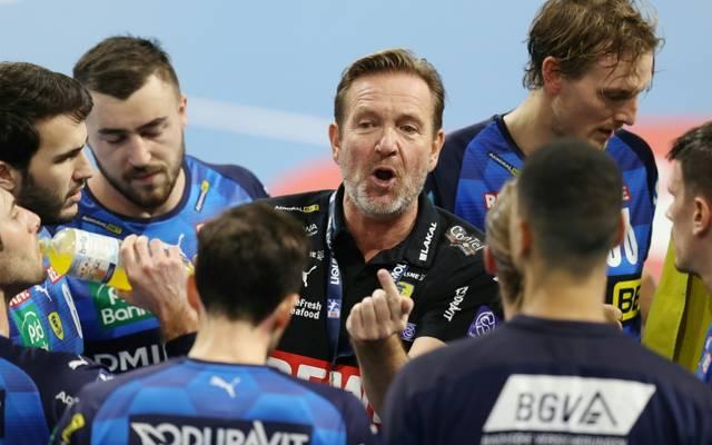 Die Löwen mit Trainer Martin Schwalb treffen auf Berlin