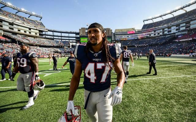Jakob Johnson ist Fullback im Kader der New England Patriots