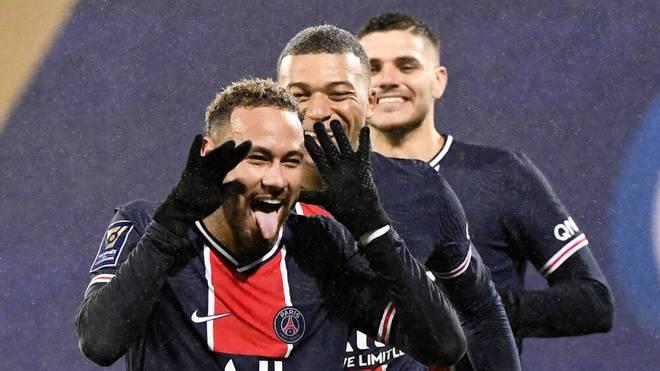 Neymar mit einer Grußbotschaft im französischen Supercup