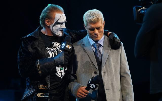 Sting (l.) traf bei AEW Dynamite auf Cody Rhodes