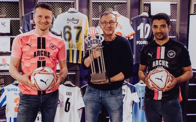 """Maik Franz, XXX und Sami Allagui (v,l.) freuen sich auf den """"Arche Cup 2021"""""""