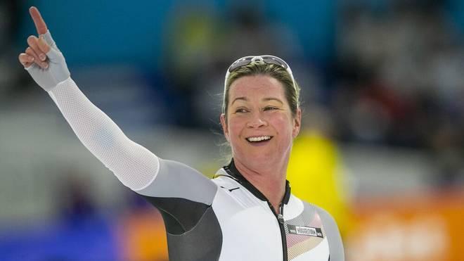 Olympische Rekorde: Claudia Pechstein nahm an sieben Olympischen Spielen teil.
